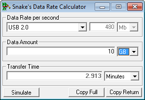 Data Rate Calculator