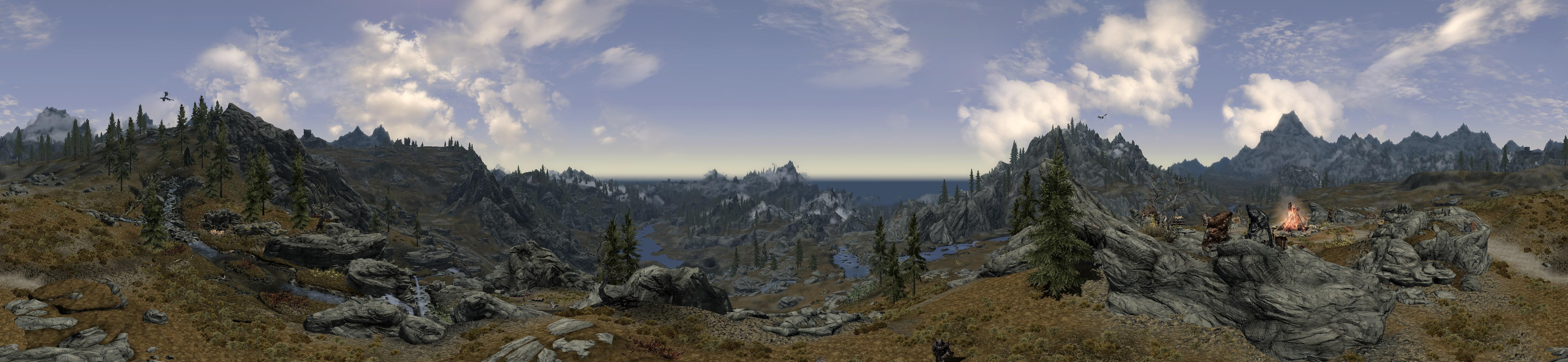 Skyrim panoramas snakebyte studios for Camp stone